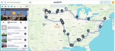 Roadtrippers map
