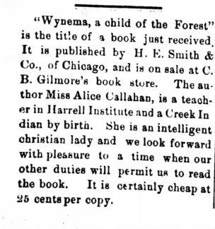 Wynema newspaper article